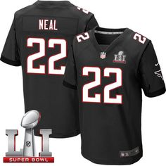 Nike Falcons #22 Keanu Neal Black Alternate Super Bowl LI 51 Men's Stitched NFL Elite Jersey