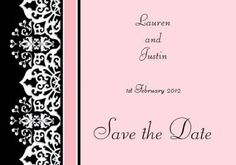 Cloud Nine Save the Date Card in Pink - DreamDay Invitations
