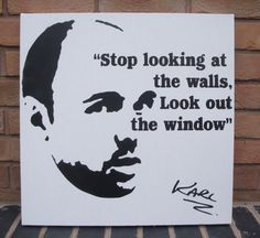 Karl Pilkington  Spraypainted Stencil Painting on by Ramart79, £45.00