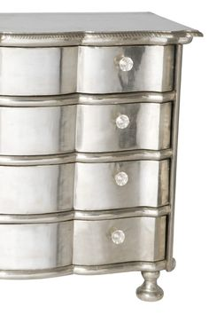 Silver furniture will create an opulent and luxurious look. Furniture Repair, Furniture Making, Furniture Refinishing, Silver Furniture, Painted Furniture, Black And Gold Bathroom, Florida Design, Silver Table, New Room