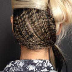 "Incredible ""pheasant"" hair by Odile Gilbert for Rodarte, NYFW Cool Haircuts, Cool Hairstyles, Runway Hair, Hair Today, Hair Inspiration, Body Art, Beauty Hacks, Hair Makeup, Hair Cuts"