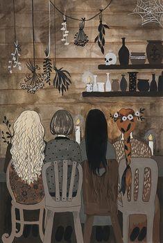 по ту сторону реки, героиня, Ярилина Рукопись, witch, magic, witchcraft, fairy-tale, russian, pagan, slavic, illustration, girl, acrilic, иллюстрация,