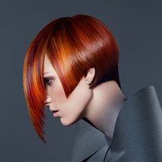 OMG, Look at this Crisp, Red Copper from Goldwell.  Challenging technique, but I'd love to try it.  Who wants this color at La Bellissima?
