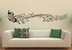 Interior Design: Awesome Wall Decor Ideas Feat Black Butterfly ...