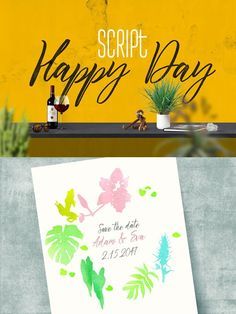 Happy Day Script. Script Fonts. $10.00