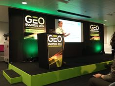 Monty Mountford of Storm Geomarine delivering his paper at GeoBusiness on how we can better understand the very dynamic coastal zone.