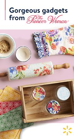 retro style to your kitchen with these floral farmhouse gadgets from the Pioneer Woman, available at . Pioneer Woman Dishes, Pioneer Woman Kitchen, Pioneer Women, Shabby Chic Kitchen, Shabby Chic Homes, Retro Home Decor, Home Decor Styles, Kitchen Items, Kitchen Decor