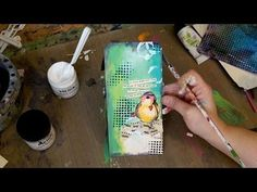 Dina Wakley Media Painted Tag - YouTube