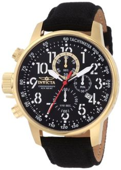 #Invicta #Men's 1428 II Collection Chronograph Black Dial Leather #Watch The Big and Tall of Watches - Not for the average sized man. http://amzn.to/HxSt4Y