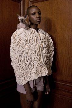 MARINA HOERMANSEDER AUTUMN WINTER 2014 | #fashiondesign #martinahoermanseder #berlin #shorts #cape