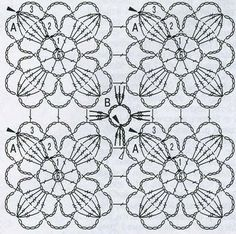 64 Ideas Knitting Stitches Tutorial Link For 2019 Crochet Stitches Chart, Crochet Motif Patterns, Crochet Diagram, Crochet Squares, Crochet Granny, Knitting Stitches, Crochet Designs, Granny Squares, Crochet Tablecloth