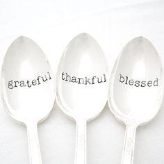 These silverplate serving spoons are perfect for sharing big holiday meals with friends and family while providing a warming and touching message. (Etsy, $50)