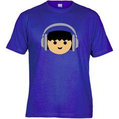 Camiseta Basica Playmobil DJ Azul Royal