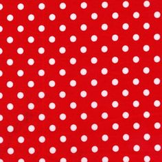 One 1 Yard  Dumb Dot Red White Michael Miller by ShuShuStyle