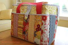 QUILT AS YOU GO   live.faith.homeschool.[sew].: Pack 'N Go Tote - A Fresh Fabric Treat