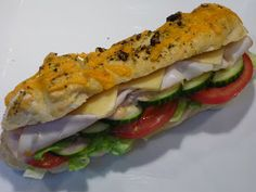 Kathy's Kitchen: Copycat Subway Sandwiches--Italian Herbs & Cheese Bread and Southwest Chipotle Sauce