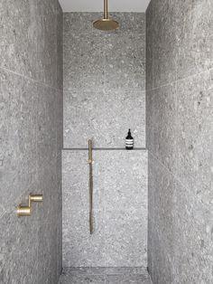 Douglas And Bec, Stacking Doors, Black Window Frames, Moving Walls, Laundry In Bathroom, Bathroom Goals, Bathroom Ideas, Bathroom Interior Design, Minimalist Home