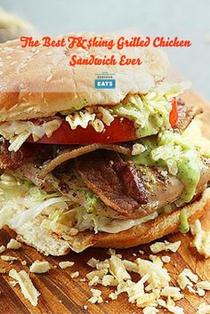 Packed with crushed potato chips, bacon, lettuce, tomato, and two different sauces, this juicy, drippy, delicious grilled chicken sandwich is not only surprisingly quick and easy, it'll also rival any burger out there.