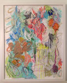 Custom framed 25.5 x 31.5 - Acrylic, charcoal, graphite pencil - AMANDA LEFFEL ART - AL FLAIR - IG: alflair
