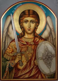 St Archangel Michael (arched wood) - This is a premium quality icon painted using traditional technique. About our icons BlessedMart offers hand-painted religious icons that follow the Russian, Greek, Byzantine and Roman Catholic traditions. We partner with some of the most experienced iconographers in the country. Artists with more than 20 years of experience in modern iconography.