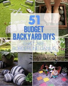 51 Budget Backyard DIYs That Are Borderline Genius  http://homestead-and-survival.com/51-budget-backyard-diys-that-are-borderline-genius/