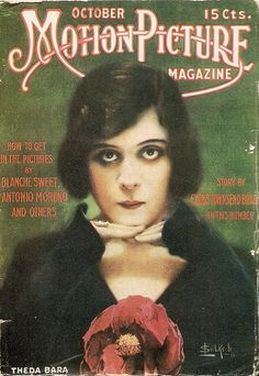 Theda Bara - Motion Picture Magazine cover, Oct. 1915 by petkenro, via Flickr