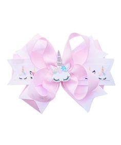andJane Light Pink Unicorn Layered Bow Clip | zulily