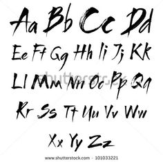 Calligraphy Alphabet Stock Photos, Images, & Pictures   Shutterstock