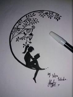 Quotes For Art Sketches Zitate Für Kunstskizzen - Image Upload Services Art Drawings Sketches Simple, Girl Drawing Sketches, Pencil Sketch Drawing, Doodle Art Drawing, Pencil Art Drawings, Cute Drawings, Tattoo Drawings, Art Sketches, Pencil Drawing Tutorials