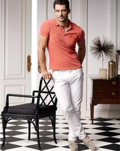 Polo + White Denim Outfit