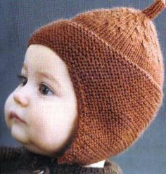 Acorn Baby Hat  Be ready for Fall by bellamuslimah
