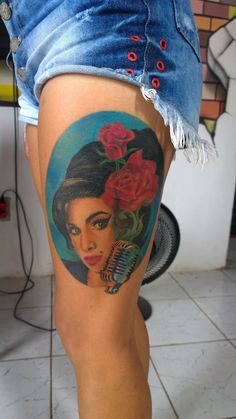 Tattoo realistic Amy whinehouse