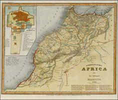Mapa de Marruecos 1844,