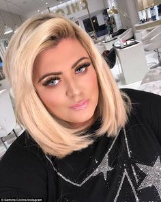New year, new look: Gemma Collins is starting 2018 as she means to go on, embarking on healthy eating and fitness plan with a vengeance, as well as treating herself to a makeover, shortly after dismissing romance rumours with James 'Arg' Argent