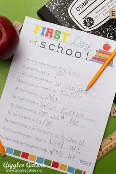 back to school ideas and printables