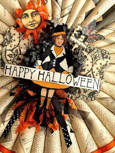 Halloween Wreath 2 by NoelleGarrettDesigns, via Flickr