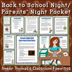 A ready made packet for your students' parents on Parent's Night/Parent Orientation. Includes tips to help you stay organized and focused. Back To School Night, Back To School Hacks, First Day Of School, School Ideas, Notes To Parents, Letter To Parents, Elementary Teacher, Upper Elementary, Field Trip Permission Slip
