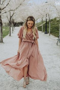 The most stunningly gorgeous dress ever! But seriously, this one has it all! Beautiful soft fabric that is super flattering. Pretty butterfly sleeves and a high low hemline.                                                                ...