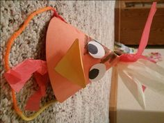 Easter activity for Peter denying Christ three times before the rooster crowed. We made rooster hats out of construction paper, tissue paper and string.