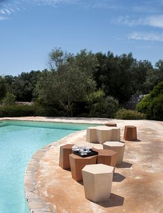 Hexagon Stone Designed by Steven Holl for Horm Outdoor