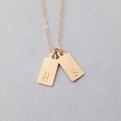 Tiny Tags Initial Necklace by PinkTwig