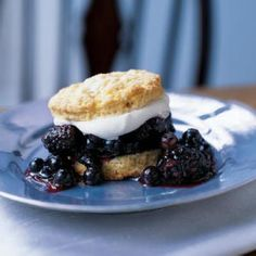 Blueberry-Blackberry Shortcakes | CookingLight.com