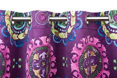 A Loja do Gato Preto   Cortinado Flore Beringela @ Cortina Flores Berenjena #alojadogatopreto #cortina #cortinado #textiles #texteis