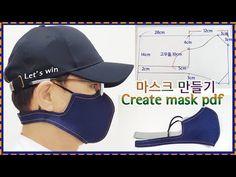 마스크 만들기/Creating a mask - New ideas Easy Face Masks, Diy Face Mask, Sewing Hacks, Sewing Tutorials, Pocket Pattern, Fashion Face Mask, Diy Mask, Mask Design, Mask Making