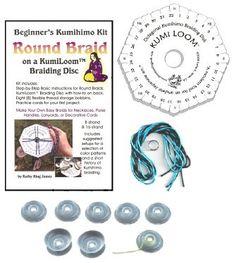 Kumihimo Starter Kit: KumiLoom Disk/Bobbins/Booklet/Cord