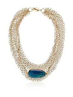 63% OFF Janna Conner Uli Turquoise Agate Necklace