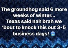 funny groundhog meme 6 weeks of winter in texas
