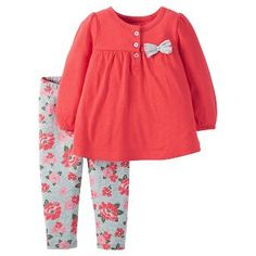 Just One You™Made by Carter's® Baby Girls' 2 Piece Pant Set - Pink/Red Floral