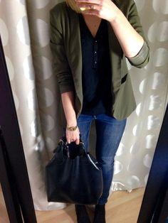 Khaki Blazer Outfit - Autumn Capsule Wardrobe