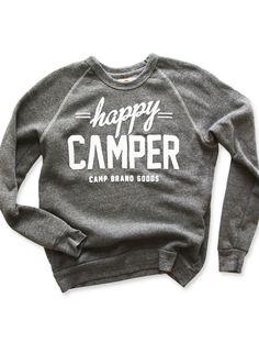 HAPPY CAMPER CREWNECK SWEATSHIRT